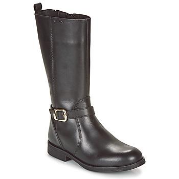 Chaussures Fille Baskets basses Geox JR AGATA Noir