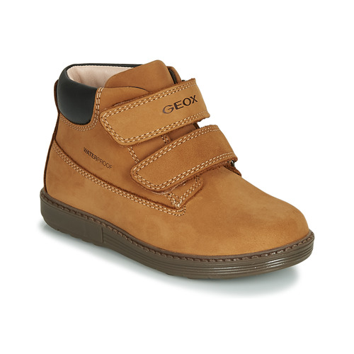 Chaussures Garçon Baskets montantes Geox B HYNDE BOY WPF Marron