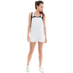 Vêtements Femme Combinaisons / Salopettes Waxx Salopette joggjean ATLANTIC Blanc