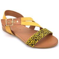 Chaussures Femme Sandales et Nu-pieds Coco & Abricot sabha Jaune