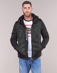 Vêtements Homme Doudounes Superdry STORM HYBRID ZIPHOOD Noir