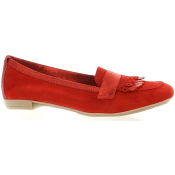 Chaussures Femme Mocassins So Send Mocassins cuir velours rouge