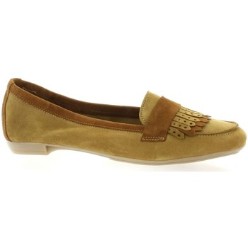 Chaussures Femme Mocassins So Send Mocassins cuir velours Camel