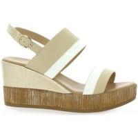 Chaussures Femme Lauren Ralph Lau Repo Nu pieds cuir Beige