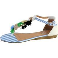 Chaussures Femme Sandales et Nu-pieds The Divine Factory Entredoigt Femme Bleu