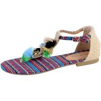 Chaussures Femme Sandales et Nu-pieds The Divine Factory Sandale Plate Femme Beige
