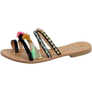 Chaussures Femme Sandales et Nu-pieds The Divine Factory Entredoigt Femme Noir