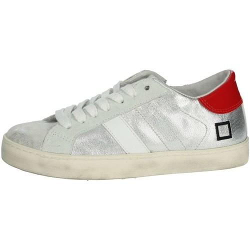Chaussures Enfant Baskets basses Date HILL LOW  JR Argent