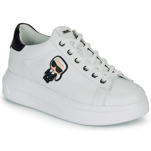 Chaussures Femme Baskets basses Karl Lagerfeld KAPRI KARL IKONIC LO LACE Blanc / Noir