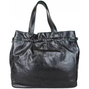 Sacs Femme Cabas / Sacs shopping A Découvrir ! Sac cabas cuir semi brillant froncé Noir fabrication France Multicolor