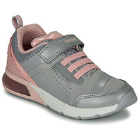 Chaussures Fille Baskets basses Geox J SPACECLUB GIRL C Grey / pink