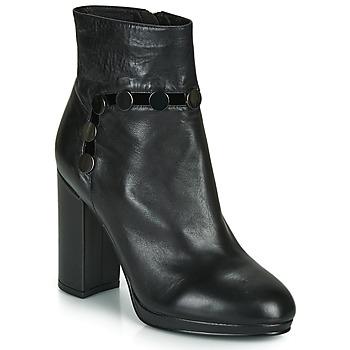 Chaussures Femme Bottines Café Noir GLORIA Noir