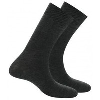 Accessoires Homme Chaussettes Kindy Pack 2 mi-chaussettes jersey unies anti-odeur Anthracite