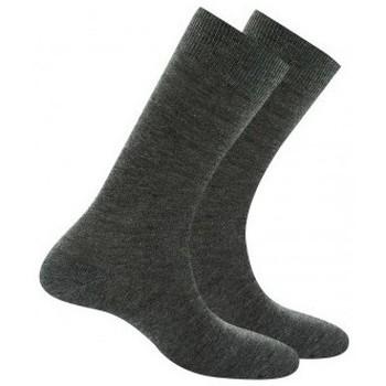 Accessoires Homme Chaussettes Kindy Pack 2 mi-chaussettes jersey unies anti-odeur Gris moyen