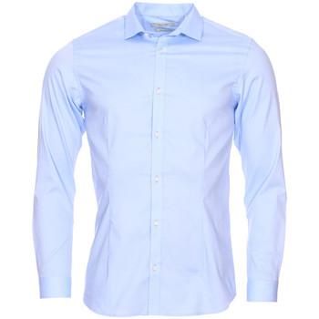 Vêtements Homme Chemises manches longues Jack & Jones Premium - chemise BLEU