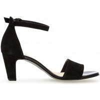 Chaussures Femme Sandales et Nu-pieds Gabor Sandale cuir talon  recouvert Noir