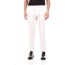 Vêtements Homme Pantalons 5 poches Bicolore F2576-ZINCO blanc