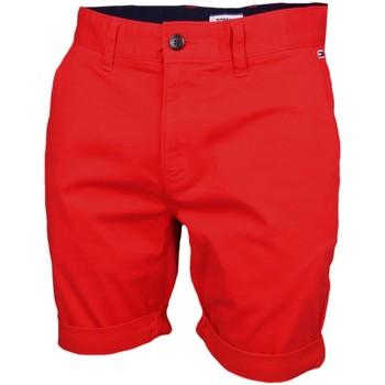 Vêtements Homme Shorts / Bermudas Tommy Jeans Bermuda chino  rouge pour homme Rouge