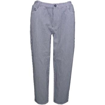 Vêtements Femme Chinos / Carrots Tommy Jeans Pantalon rayé  bleu marine et blanc pour femme Bleu