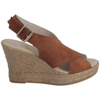 Espadrilles Walk And Love Sandale compensée croisée Camel