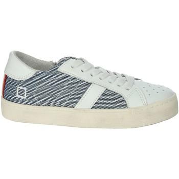 Chaussures Garçon Baskets basses Date HILL LOW-O Blanc/Bleu