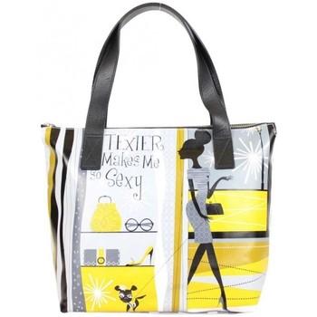 Sacs Femme Sacs porté épaule Texier Sac à main  motif jaune femme 19902 fabrication France Multicolor