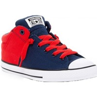 Chaussures Fille Baskets montantes Converse Toile CT Axel Mid Marine/Rouge Multicolor