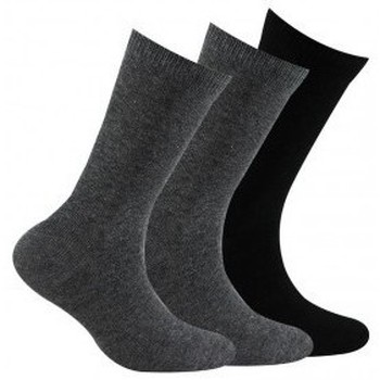 Accessoires Homme Chaussettes Kindy Pack 3 paires de chaussettes unies jersey Noir gris