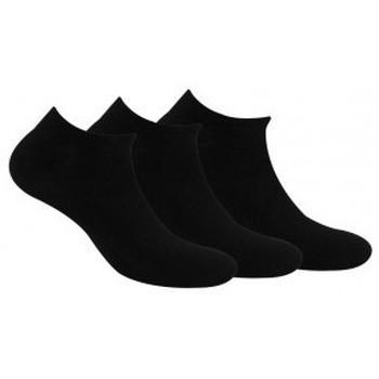 Accessoires Garçon Chaussettes Kindy Pack de 3 paires de chaussettes invisibles unies en coton Noir