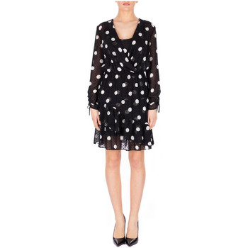Vêtements Femme Robes courtes Liu Jo ABITO ALL IN ONE u9087-black-lt-w-milk-dots