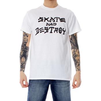 Vêtements Homme T-shirts manches courtes Thrasher 110103 Blanc