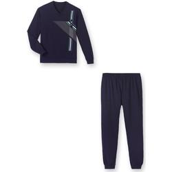 Vêtements Homme Pyjamas / Chemises de nuit Honcelac Pyjama maille jersey marine