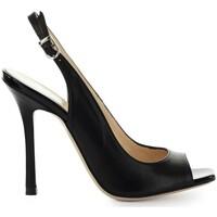 Chaussures Femme Sandales et Nu-pieds Marc Ellis SANDALE CUIR NOIR Black