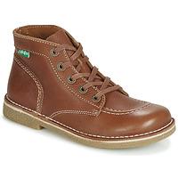 Chaussures Femme Boots Kickers LEGENDIKNEW Camel