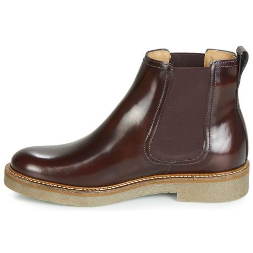 Boots Oxfordchic Kickers Bordeaux Femme Chaussures c53LqjAR4