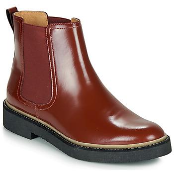 Chaussures Femme Boots Kickers OXFORDCHIC Rouge Foncé