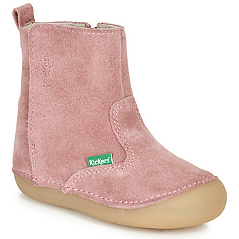 Chaussures Fille Bottes ville Kickers SOCOOL Rose