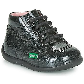 Chaussures Fille Boots Kickers BILLISTA ZIP Noir
