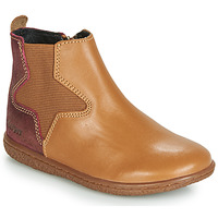 Chaussures Fille Boots Kickers VERMILLON Camel