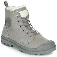 Chaussures Femme Boots Palladium PAMPA HI ZIP WL Gris