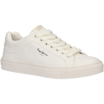 Chaussures Femme Baskets basses Pepe jeans PLS30852 ADAMS 800 WHITE Blanco