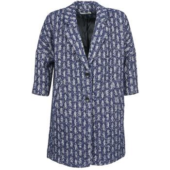 Vêtements Femme Manteaux See U Soon RIFFLE Bleu / Blanc