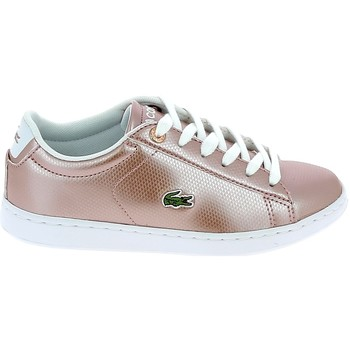 Chaussures Femme Baskets basses Lacoste Carnaby Evo C Rose Blanc Rose