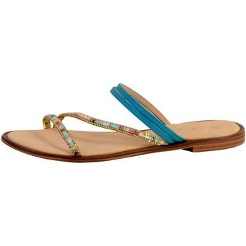 Chaussures Femme Sandales et Nu-pieds The Divine Factory Mule Femme ZH3673 Bleu