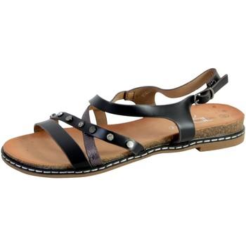 Chaussures Femme Sandales et Nu-pieds The Divine Factory Sandale Femme YM3681 Noir