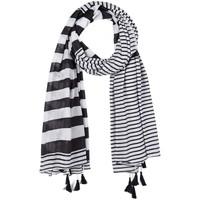 Accessoires textile Femme Echarpes / Etoles / Foulards Allée Du Foulard Foulard marinière Noir
