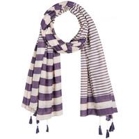 Accessoires textile Femme Echarpes / Etoles / Foulards Allée Du Foulard Foulard marinière Violet