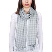 Accessoires textile Homme Echarpes / Etoles / Foulards Allée Du Foulard Echarpe carreaux Alma - Couleur - Gris Gris