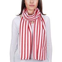 Accessoires textile Femme Echarpes / Etoles / Foulards Allée Du Foulard Chèche coton Linea Rouge