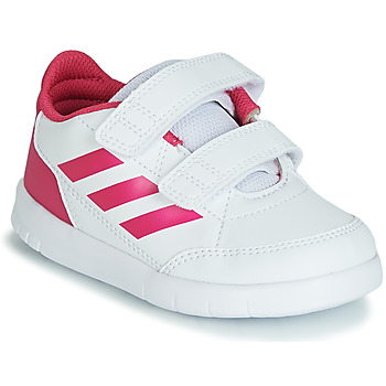 Chaussures Fille Baskets basses adidas Performance ALTASPORT CF I Blanc / rose